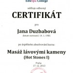 Certificate Hot Stone Massage